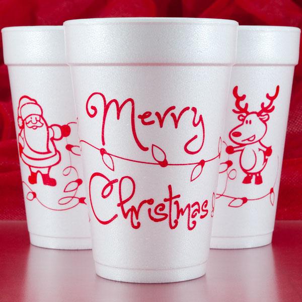 Christmas & Holiday Cups, Napkins & Plates