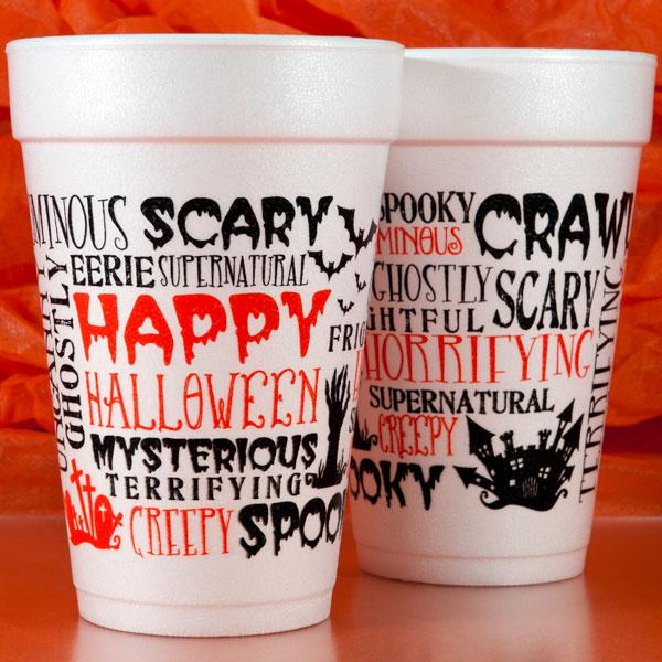 Halloween Foam Cups & Napkins