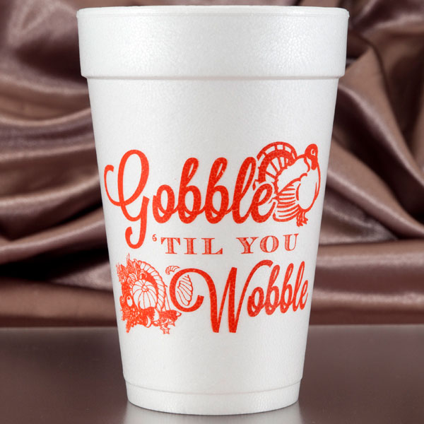 Fall & Thanksgiving Foam Cups, Napkins & Plates