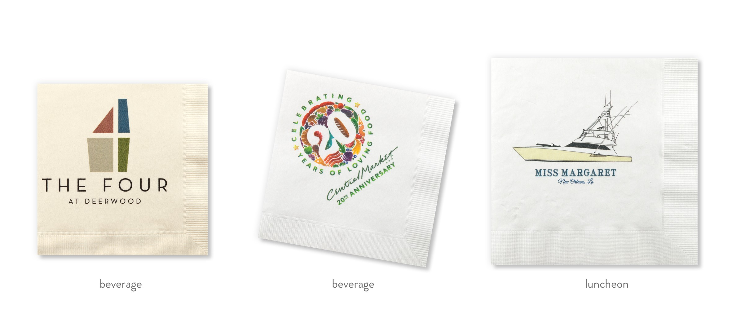 5738dc169bf4 Custom Full Color Printed Napkins - Cup of Arms
