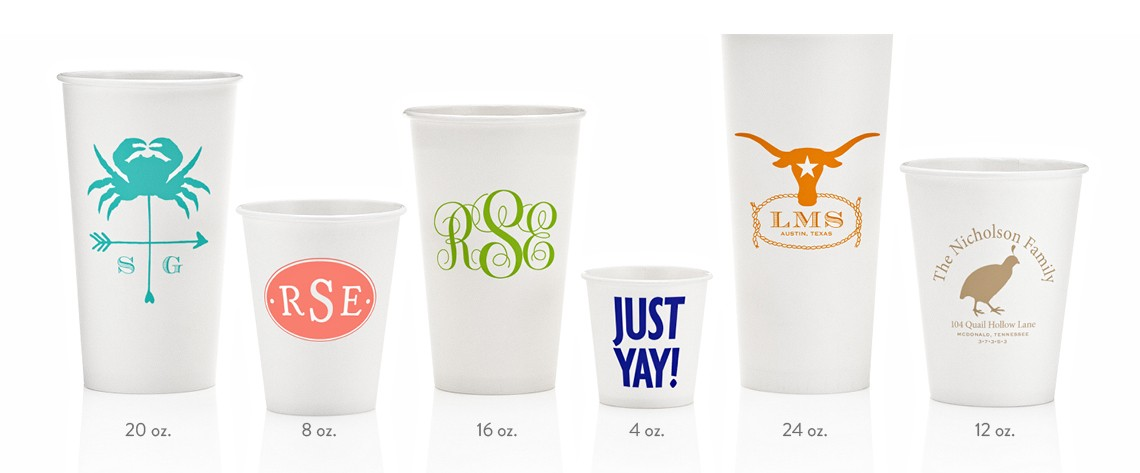 custom  u0026 personalized printed paper cups