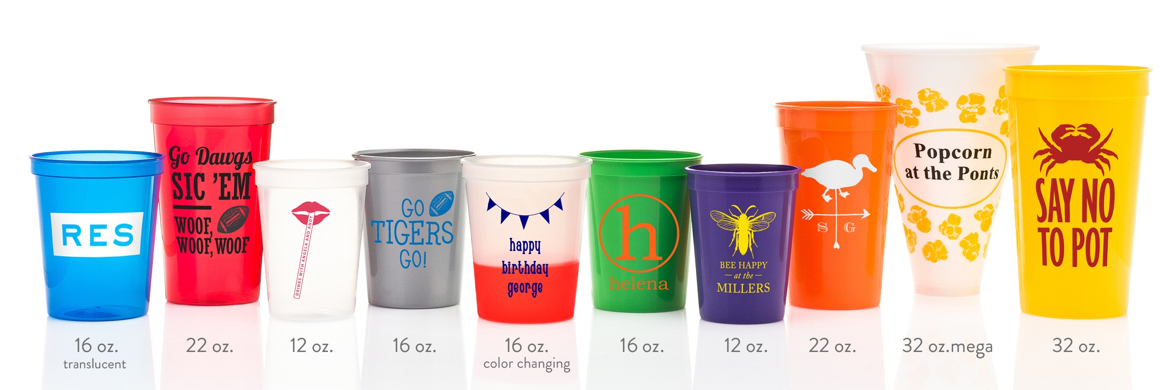Custom Stadium Cups Color Changing Mood Cups Cup Of Arms
