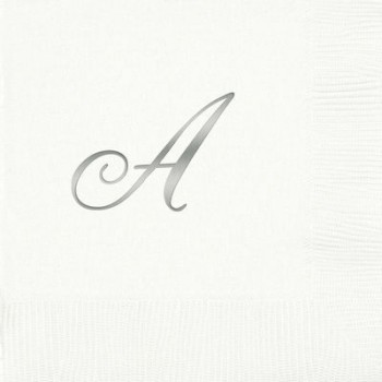 pre-printed 3-ply quill initial beverage/cocktail napkin