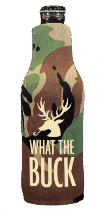 custom camo bottle hugger (koozie) | Signature Collection Quip {buck}