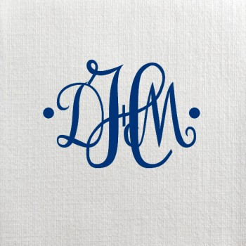 custom deville cocktail napkin white | Signature Collection monogram {circle dot}