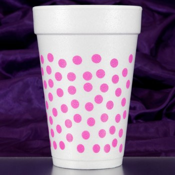CPF209 polka dots hot pink pre-printed foam