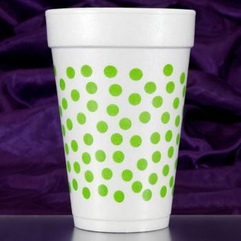 CPF209 polka dots lime pre-printed foam