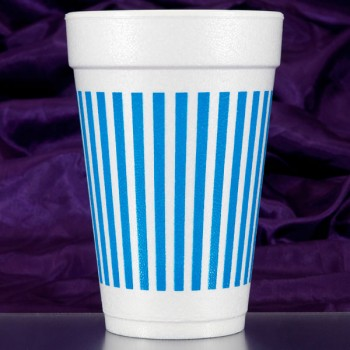 CPF210 stripes blue pre-printed foam