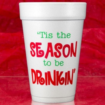 Christmas foam cups | Drinkin (red/green ink) | FCC185