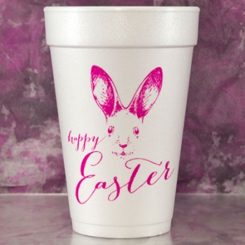 easter cups styrofoam {bunny face} | 16oz pre-printed | FCE113