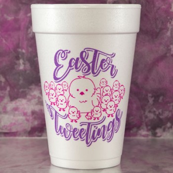 easter cups styrofoam {tweetings} |16oz pre-printed| FCE114