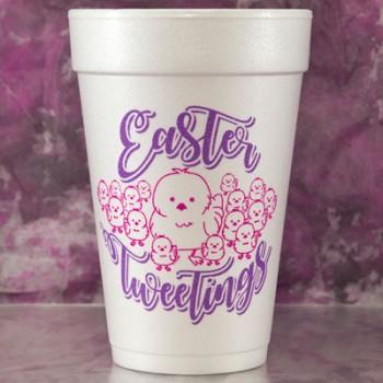 easter cups styrofoam {tweetings} |16oz pre-printed| FCE114