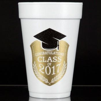 graduation styrofoam cups {class} 16oz pre-printed CupOfArms FCG002