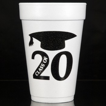 Graduation styrofoam cups {Class} | 16oz foam pre-printed | Cup of Arms | FCG004