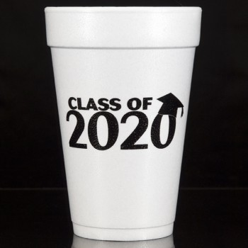 graduation styrofoam cups {hassle} 16oz pre-printed CupOfArms FCG006