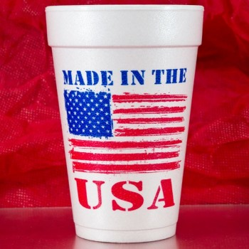 July 4th Cups Styrofoam 16oz Pre-printed | USA (Red/Blue Print) | FCID002