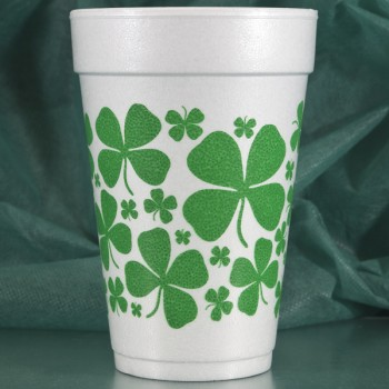 FCS13 st. patricks day foam cups clover