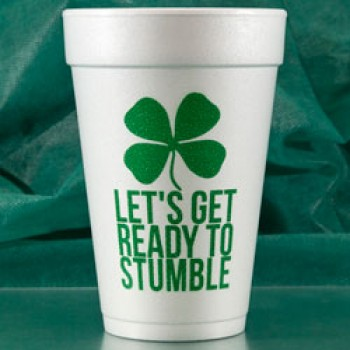 st. patrick's day cups styrofoam {stumble}| 16oz pre-printed | FCS14