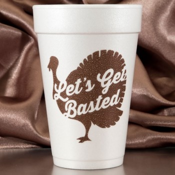 Halloween Cups Styrofoam 16oz Pre-printed | Basted (Brown Ink) | FCT011