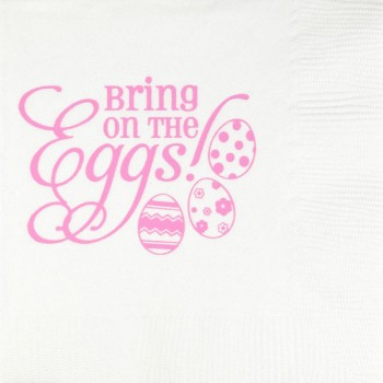 easter napkins white 3-ply {eggs} | pre-printed | GBE008