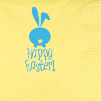 easter napkins yellow 3-ply | pre-printed | GBE009