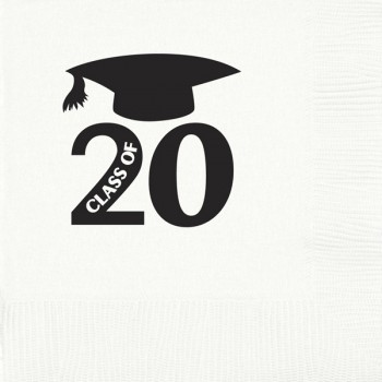 Graduation napkins {mortar} | beverage / cocktail pre-printed | Cup of Arms GBG004