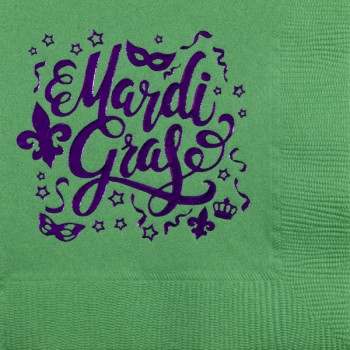 mardi gras napkins {mardi gras scattered} beverage / cocktail CupOfArms GBM17