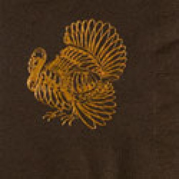 thanksgiving thanksgiving turkey pre-printed beverage napkins