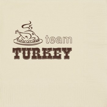 thanksgiving happy thanksgiving pre-printed beverage napkins