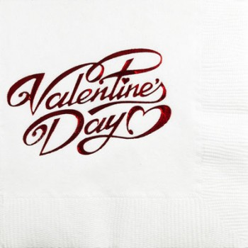 valentine's day napkins {valentine's day} beverage/cocktail pre-printed CupOfArms GBV17