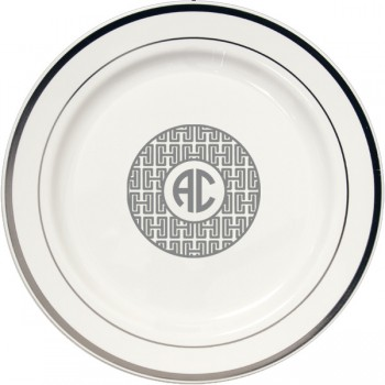 custom printed round plastic plates | Signature Collection art Greek 2  sc 1 st  Cup of Arms & Personalized Plastic Plates u2013 Round/Square/Premium - Cup of Arms