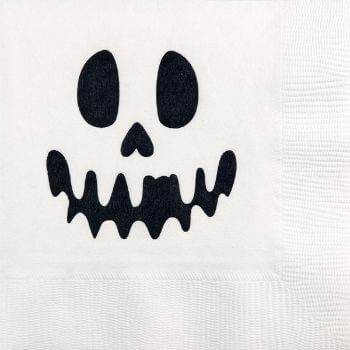 Halloween Beverage Napkins | Halloween Ghost pre- printed GBH124