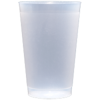 unprinted blank frosted plastic (frost flex / shatterproof} cups