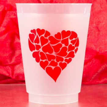 valentine's day frost flex cups {heart of hearts} 16oz pre-printed Cup Of Arms PCFV001