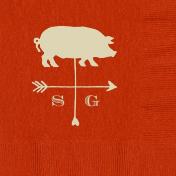 custom 3-ply napkins red | Signature Collection art {vane pig}