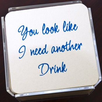 QC200 drink humorous coaster