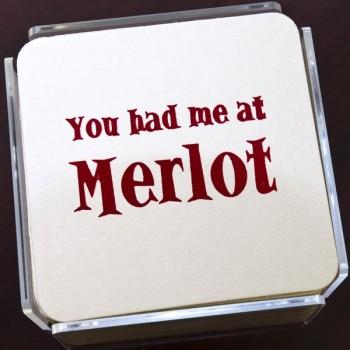 QC201 merlot humorous coaster
