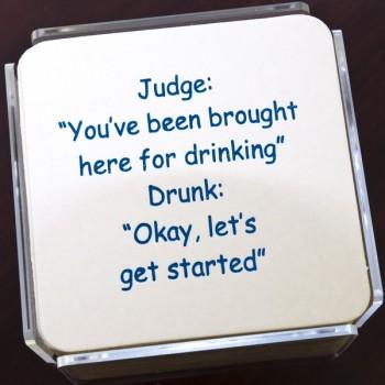 QC2023 judge humorous coaster