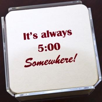 QC2026 5:00 humorous coaster