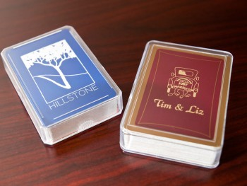 single deck playing card acrylic holder