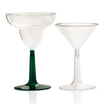 hard plastic margarita martini glass