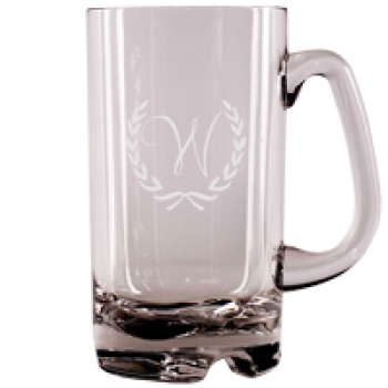 custom non-breakable etched beer mug | Custom Collection art {NA-1106}