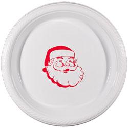 "christmas santa plate 7"" pre-printed CupOfArms"