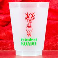 christmas reindeer roadie frost flex cup 16oz pre-printed CupOfArms