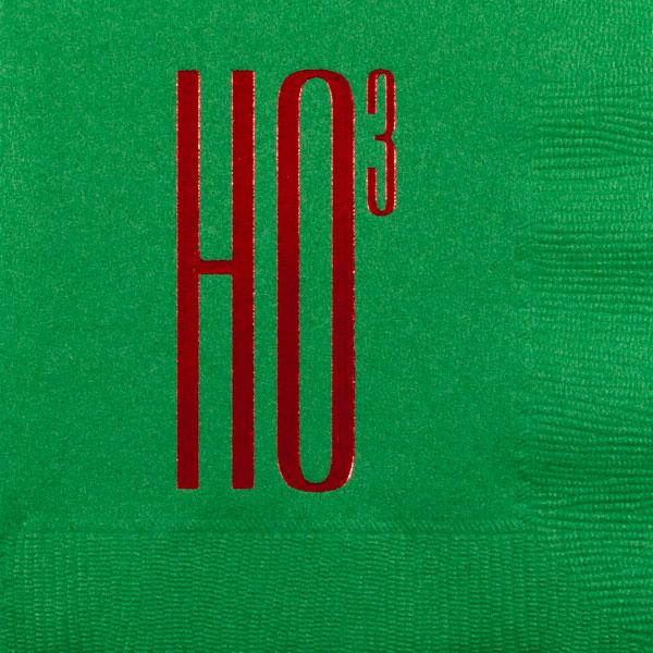 christmas ho3 beverage napkin pre-printed CupOfArms