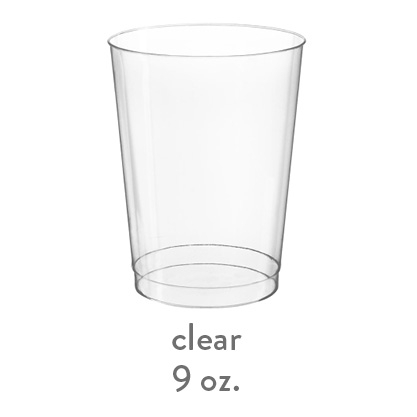 clear hard plastic cup 9oz