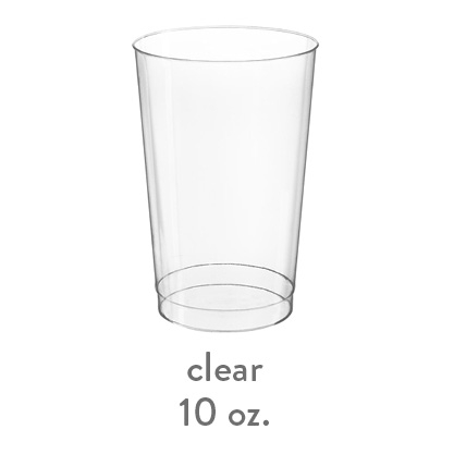 clear hard plastic 10oz cup