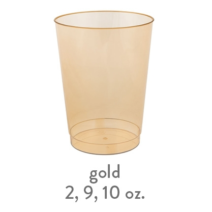 gold hard plastic cup