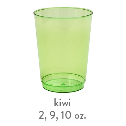 kiwi transparent hard plastic cup