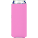 bright pink neoprene slim koozie